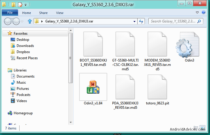 Up-Grading Samsung Galaxy Y to 2 3 6 ~ My Android