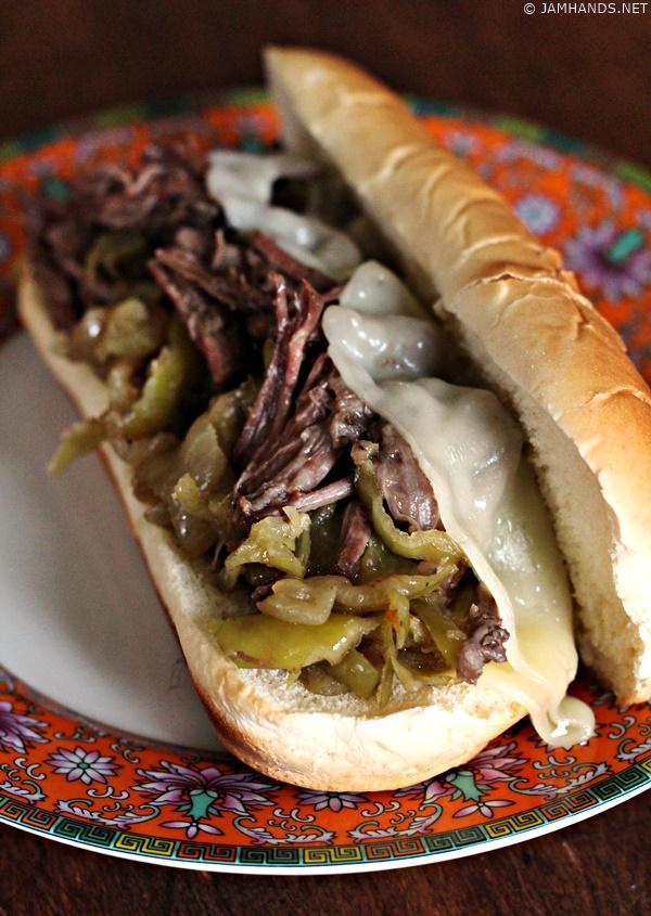 Jam Hands: Slow Cooker Italian Beef Sandwiches