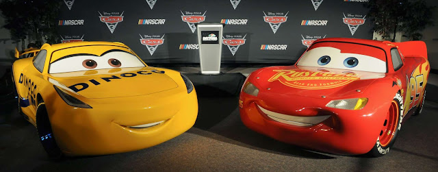 Life Sized Cruz Ramirez and Lightning McQueen