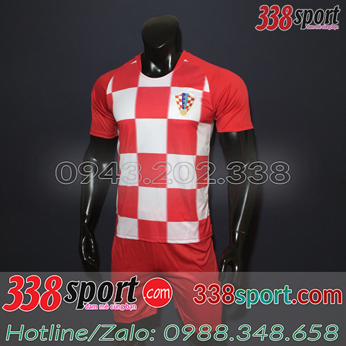 Áo Đội Tuyển Croatia Đỏ Trắng 2019 Sân Nhà