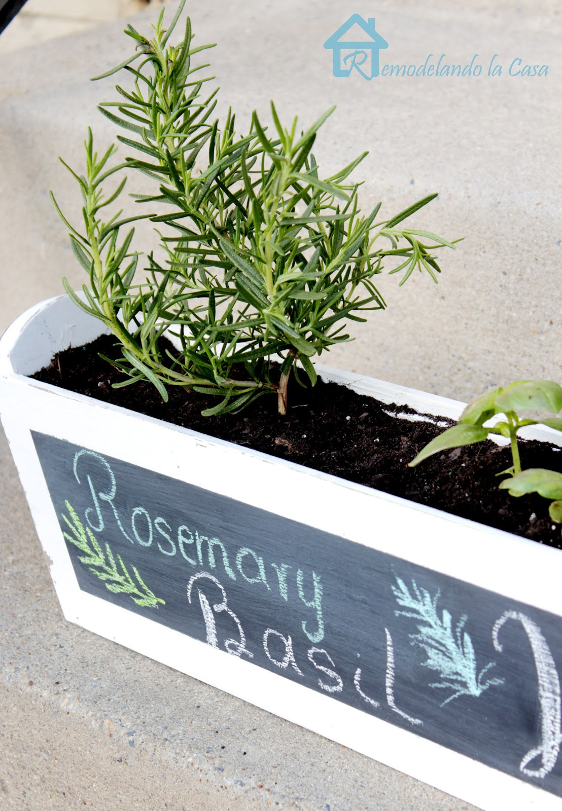 Build your own herb planter for your kitchen window ledge.