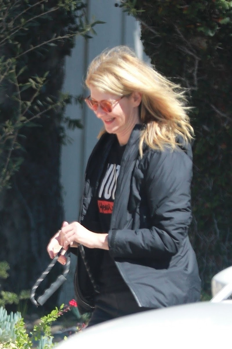 Laura Dern Clicked Outside with Her Dogs in Los Angeles 21 Mar -2020