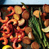 Harissa Shrimp, Potato & Asparagus Sheet Pan Meal