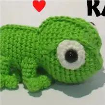 Camaleón Pascal a Crochet