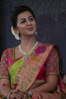 Actress Nikki Galrani Latest Pos in Saree Neruppu Da Movie Audio Launch  0004.jpg