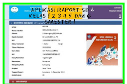 Download Aplikasi Raport SD Kelas 1 2 3 4 5 dan 6 Smester 1 dan 2  Edisi 2019 2020