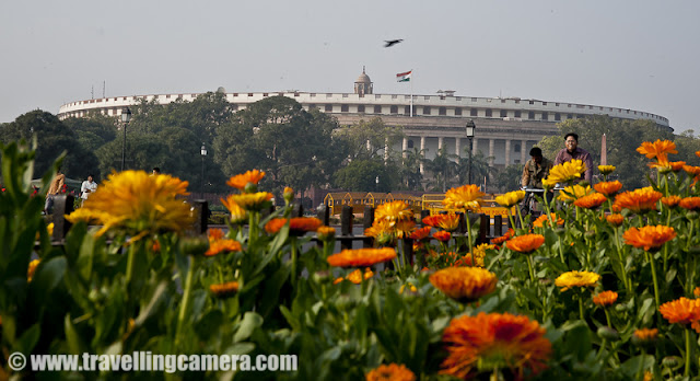 Parliament of India building comes on the way from President's House to India Gate. Long time back few photographs were clicked around this area and here is a quick Photo Journey from Parliament House of India, which is situated in Capital City - Delhi !!The Parliament House of India is the supreme legislative body in the country. It was founded in 1919, the Parliament alone possesses legislative supremacy and thereby ultimate power over all political bodies in India. The Parliament of India comprises the President and the two Houses, Lok Sabha (House of People) and Rajya Sabha (Council of States). The President has the power to summon and prorogue either House of Parliament or to dissolve Lok SabhaThe parliament has popularly two houses - upper house called as Council of States or Rajya Sabha and a lower house called as House of People or Lok Sabha. The two Houses meet in separate chambers in the Sansad Bhavan (located on the Sansad Marg) in New Delhi. The Members of either house are commonly referred to as Members of Parliament or MP.The MPs of Lok Sabha are elected by direct election and the MPs of Rajya Sabha are elected by the members of the State Legislative Assemblies and Union territories of Delhi and Pondicherry only in accordance with proportional voting. The Parliament is composed of 802 MPs, who serve the largest democratic electorate in the world and the largest trans-national democratic electorate in the world...Parliament House comes on left side when we move form President's House to India Gate in New Delhi. All of above photographs are clicked from the wide road which is perpendicular to the road which connects India Gate with Rashtrapati Bhavan. This whole region is beautifully maintained !!!