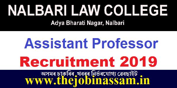 Nalbari Law College Recruitment 2019