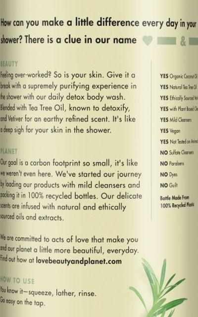 Tea Tree Oil Body Wash For Acne Prone Skin