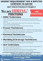 MEP Maintenance Project Free Recruitment - Qatar
