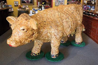 wine corks cow furniture
