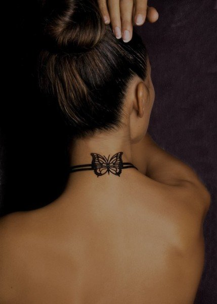 erfly neck animal tattoos tattoo designs for girls back of neck