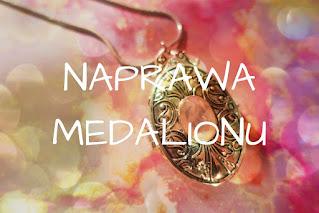 Naprawa medalionu Medalion otwierany Srebrol