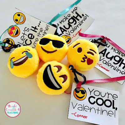 These emoji key chains and free tag are an easy gift for your classroom.