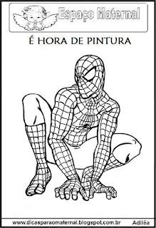 Desenho homem Aranha colorir
