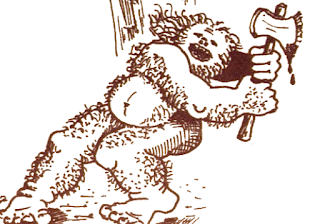 Artist's conception of the troll from the 1980 text adventure, Zork I