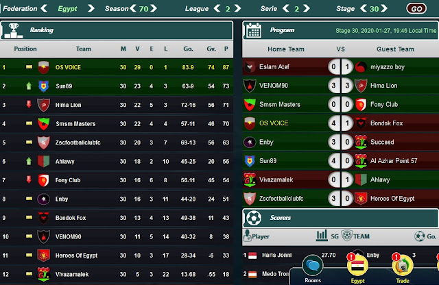 GoalTycoon Egypt Season 70