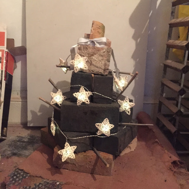 Christmas tree made from bricks