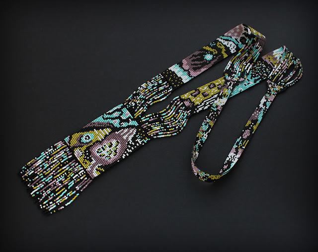 купить колье из бисера ручной работы авторский гердан в интернет магазине россия ру москва