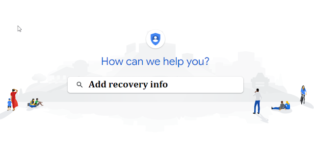 add recovery information to google account