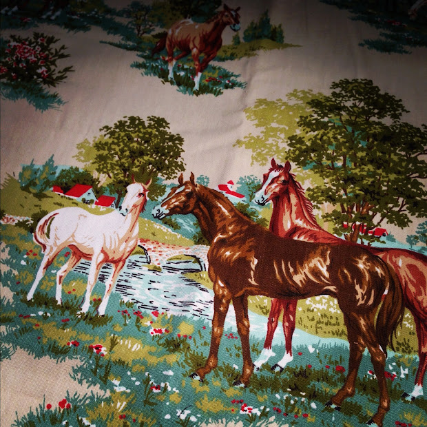 Horse Print Upholstery Fabric