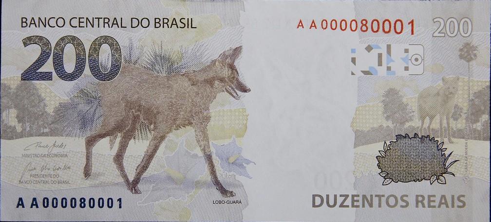 Verso da nova nota de R$ 200