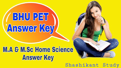 BHU-M.A-M.Sc-Home-Science -Answer-Key