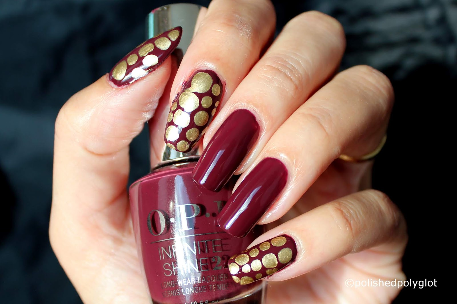 Nail Art Blobbicure In Fall Colours Polished Polyglot