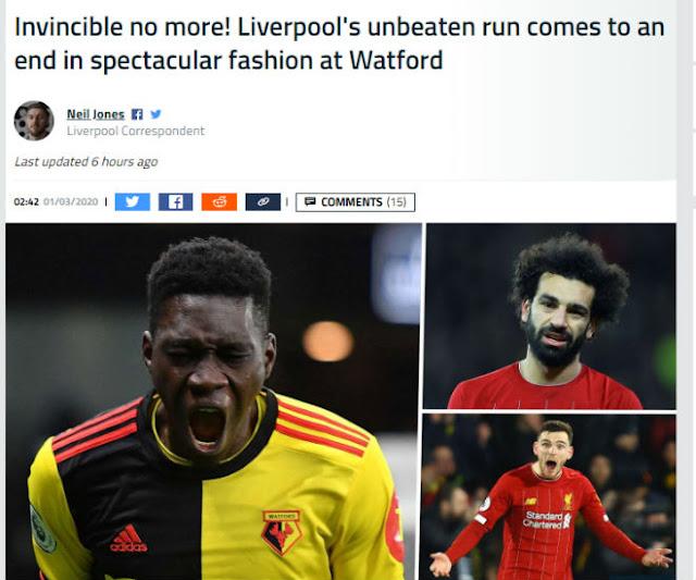 """Liverpool vỡ mộng bất bại: Báo Anh mỉa mai, chê Salah - Mane """"vô hại"""" 3"""