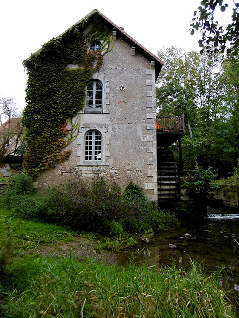 Mill on the Anglin, Concremiers, Indre, France. Photo by Loire Valley Time Travel.