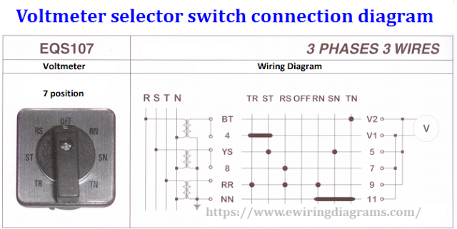 voltmeter selector switch connection diagram