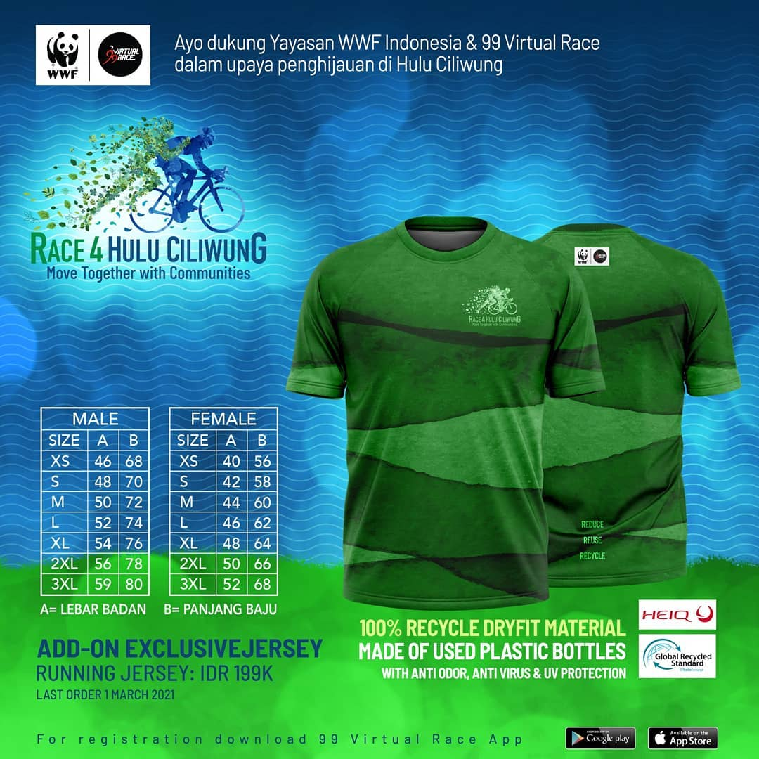 Running Jersey 👕 Race 4 Hulu Ciliwung • 2021