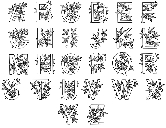 A pinch of everything illuminated manuscripts for Illuminated alphabet templates