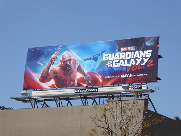 Drax Guardians of Galaxy 2 billboard