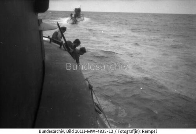 U-471 and U-459 at sea on 21 April 1942 worldwartwo.filminspector.com