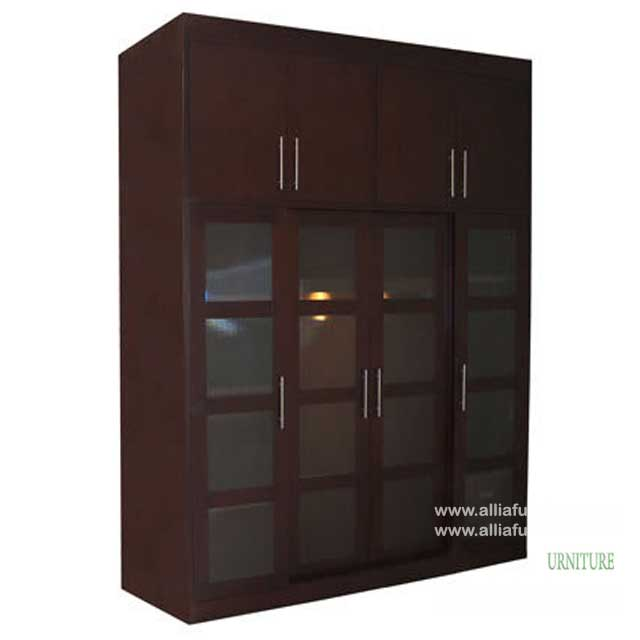 lemari baju minimalis 4 pintu unit louis