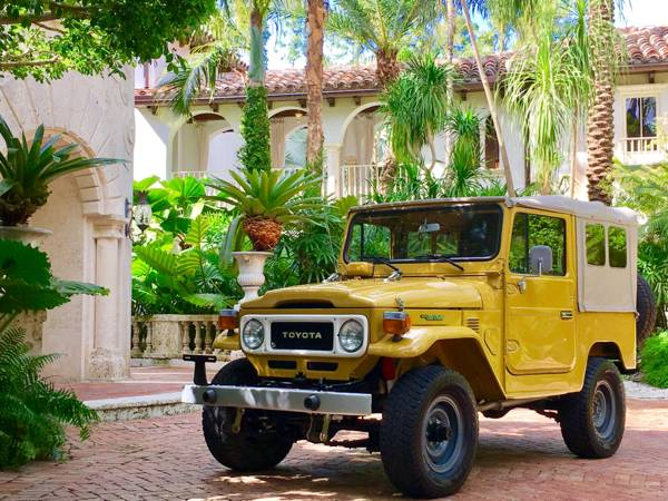 1982 Toyota Land Cruiser FJ40 Mustard Yellow