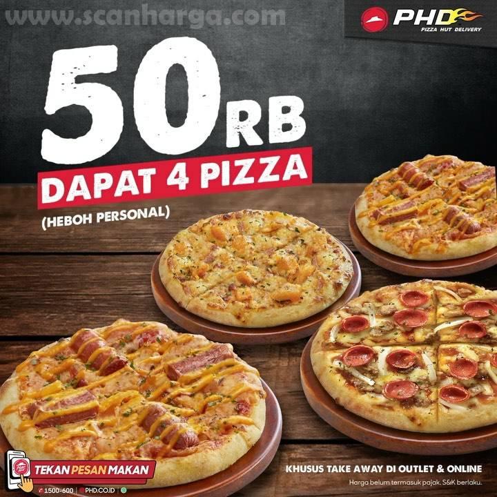 Promo PHD Rp 50.000 dapat 4 Pizza [Heboh Personal]