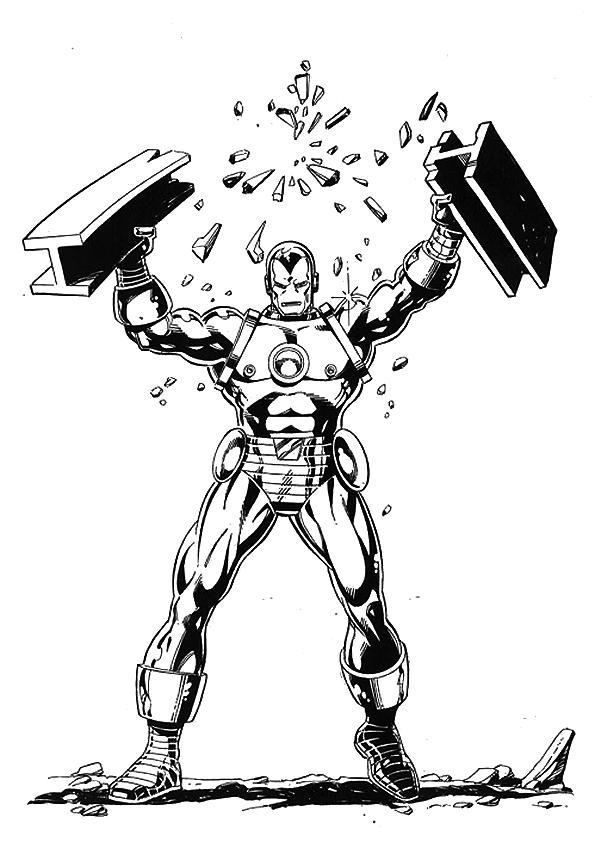 Ausmalbild Iron Man Ist Zum Kampf Bereit Ausmalbilder: Ausmalbilder Zum Ausdrucken: Ausmalbilder Iron Man Zum