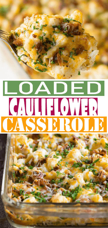 LOADED #CAULIFLOWER #CASSEROLE