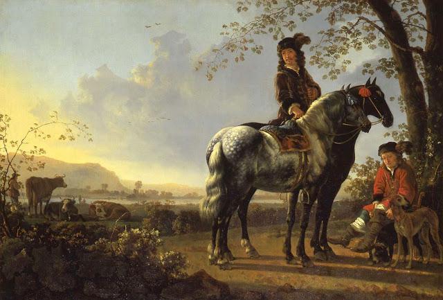 Альберт Кёйп - Всадник на фоне пейзажа