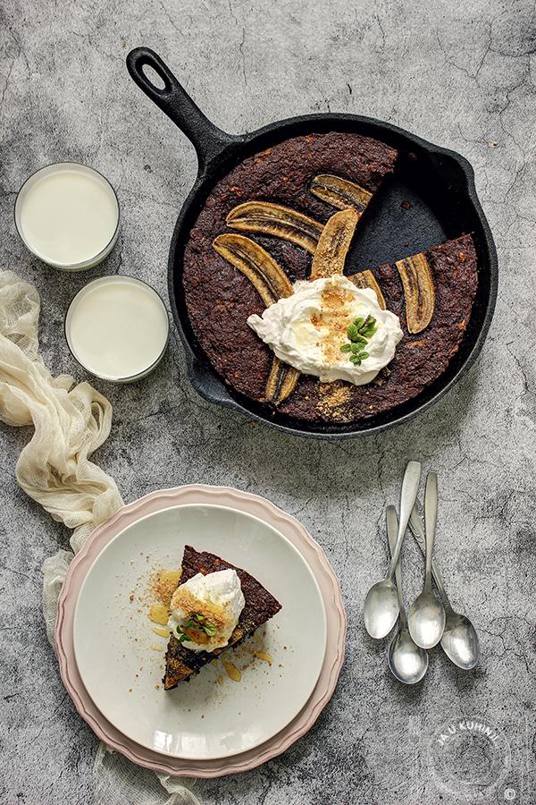 Čokoladni banana hleb iz tiganja sa Plazmom