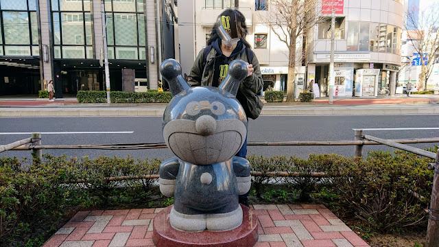 宮城県仙台市 バイキンマン像
