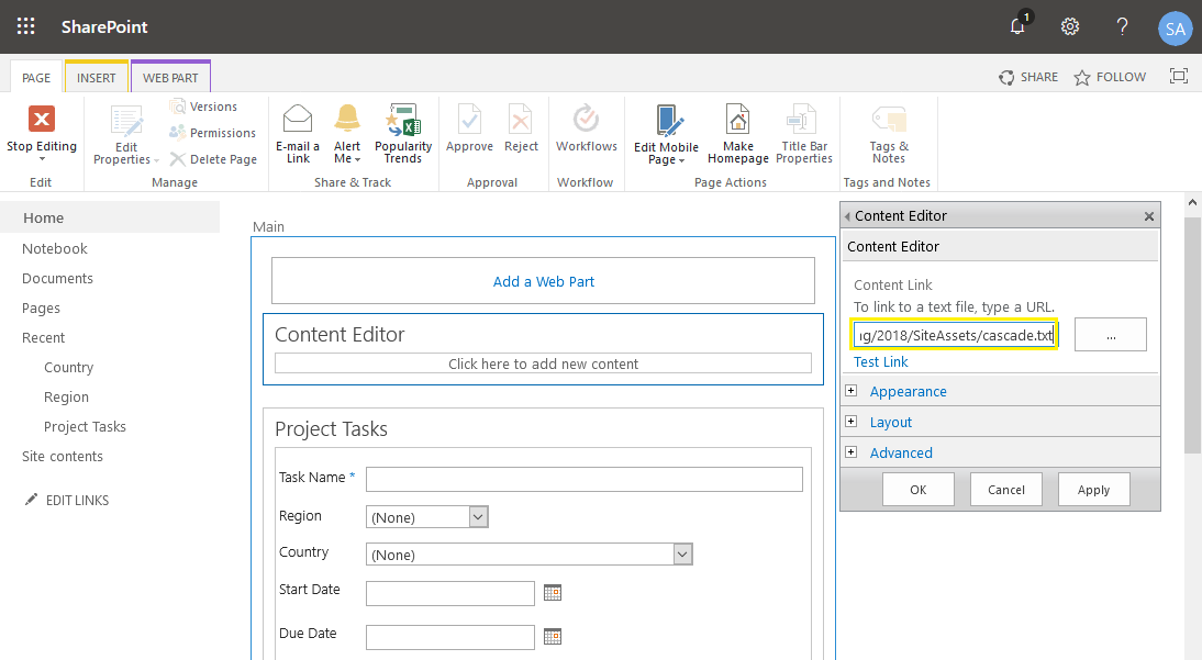 sharepoint online cascading lookup column