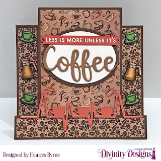 Stamp/Die Duos: Perk Up   Custom Dies: Center Step with Layers, Coffee Heartbeat, Ovals,  Scalloped Ovals   Paper Collections:  Latte Love