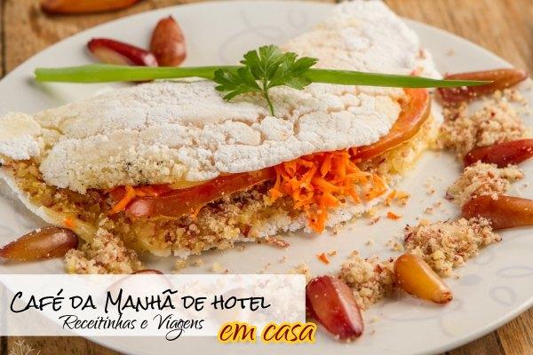 Café da manhã de hotel com tapioca no Nordeste