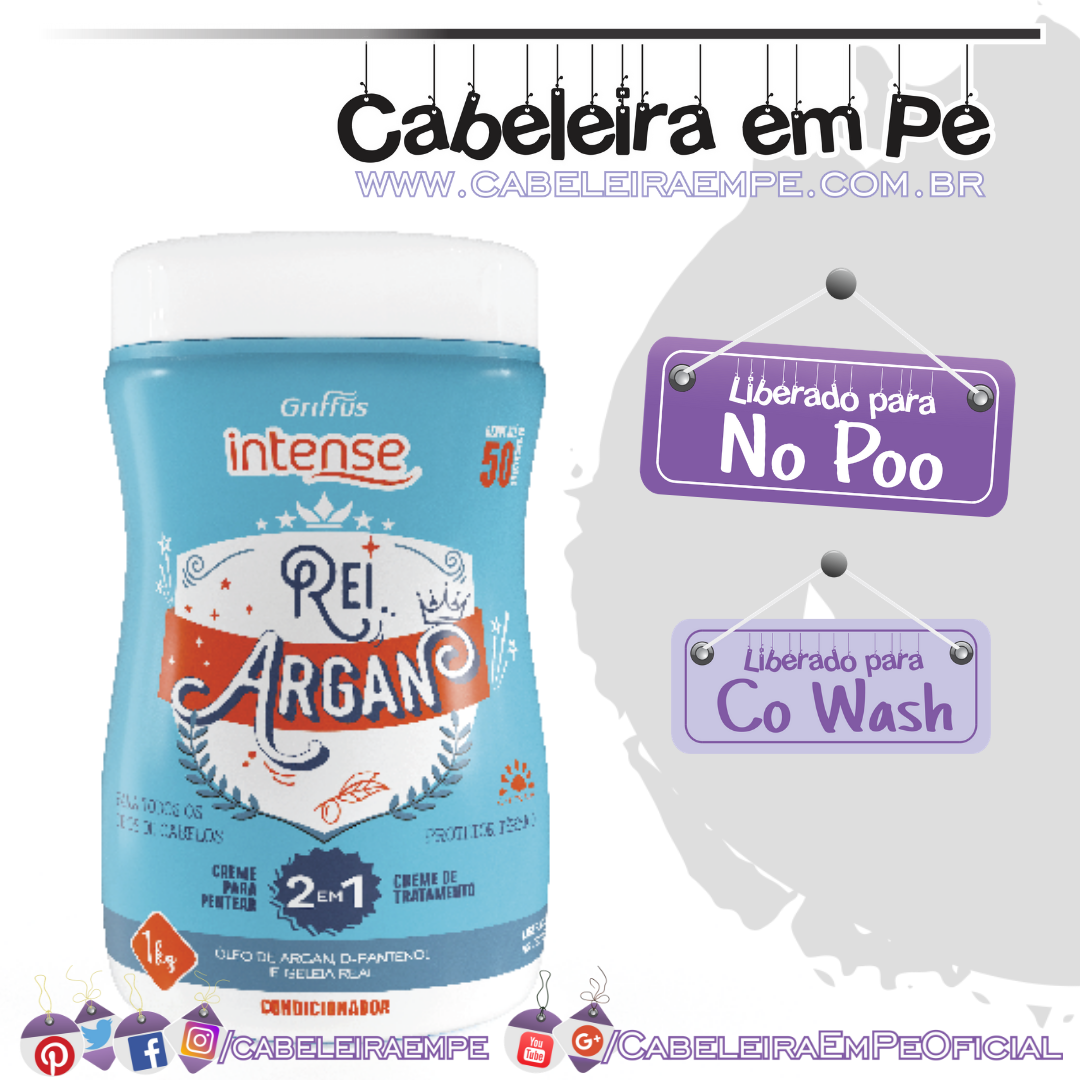 Máscara Intense Rei Argan - Griffus (No Poo e Co Wash)
