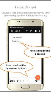 Dettatura trasforma l'audio in testo