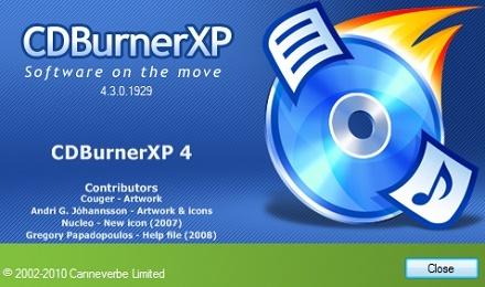 تحميل برنامج نسخ وحرق الملفات على الاسطوانات  CDBurnerXP