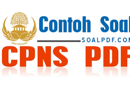 CONTOH SOAL CPNS PDF